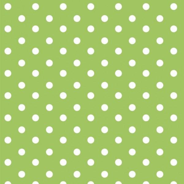 Lili Punkte mittel, hellgrün, Webstoff, waschbar bei 60°