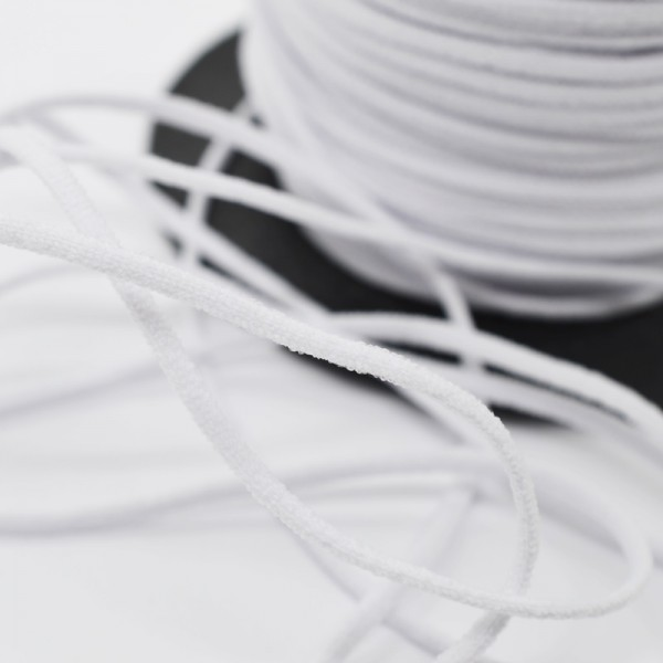 Gummischnur Lycra Elastic, 3 mm, weiß