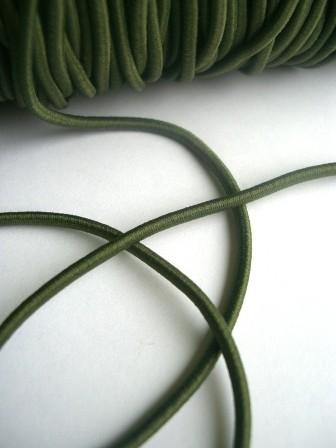 Gummischnur, 3 mm, khaki