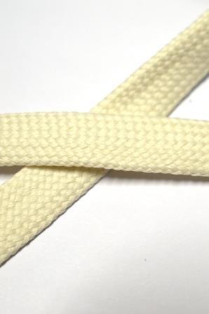 flache Kordel, 15 mm, offwhite