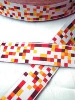 Mosaik, gelb-orange, Webband breit