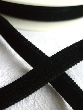 Samtband, 9 mm, schwarz