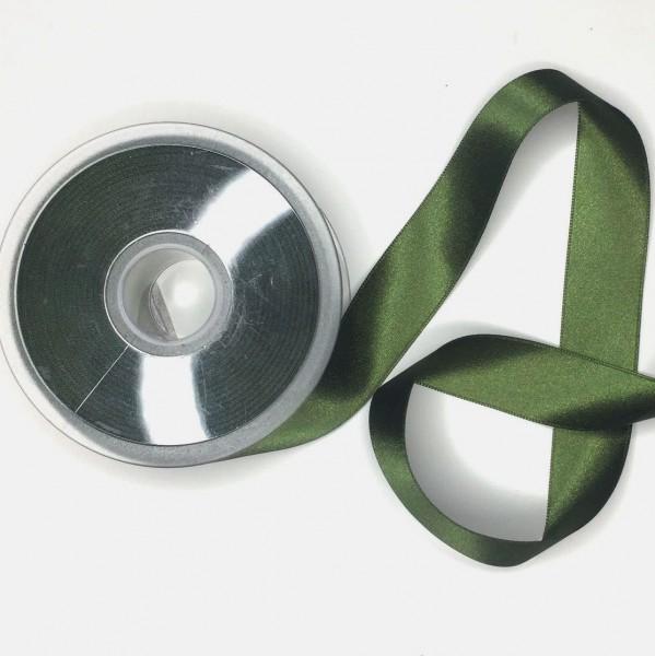 Satinband, waldgrün, 25 mm
