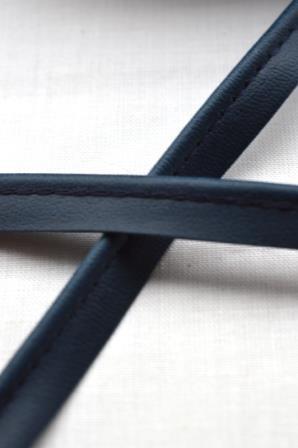 Kunstlederpaspel, dunkelblau