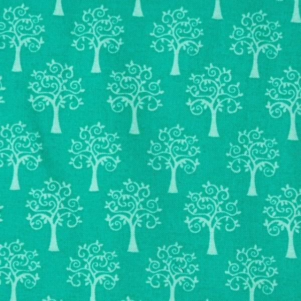 Best Friends Bäume türkis, Webstoff