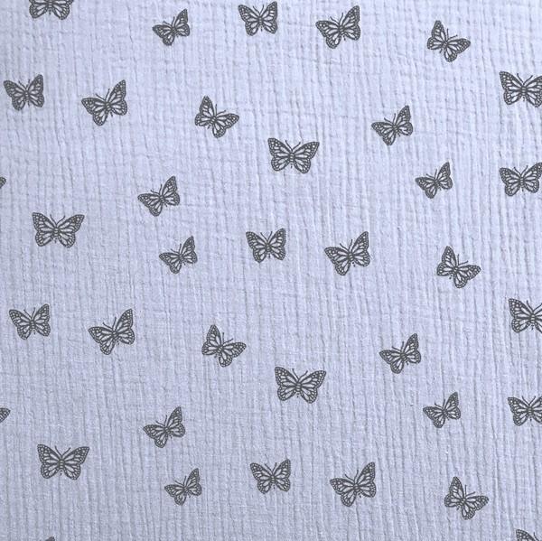 Double Gauze, Schmetterlinge blaugrau