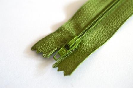 Reißverschluss, waldgrün