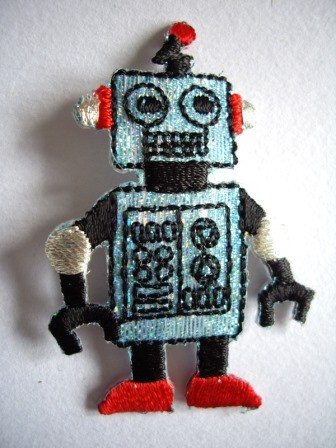 Applikation Roboter, blau