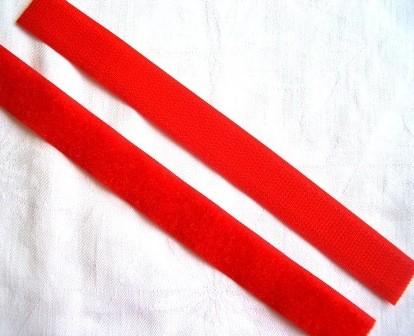 Klettverschluss, rot