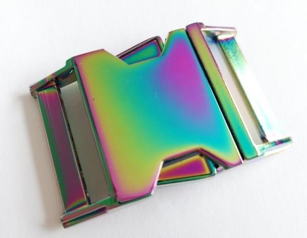 massive Metallschnalle, 30 mm regenbogen
