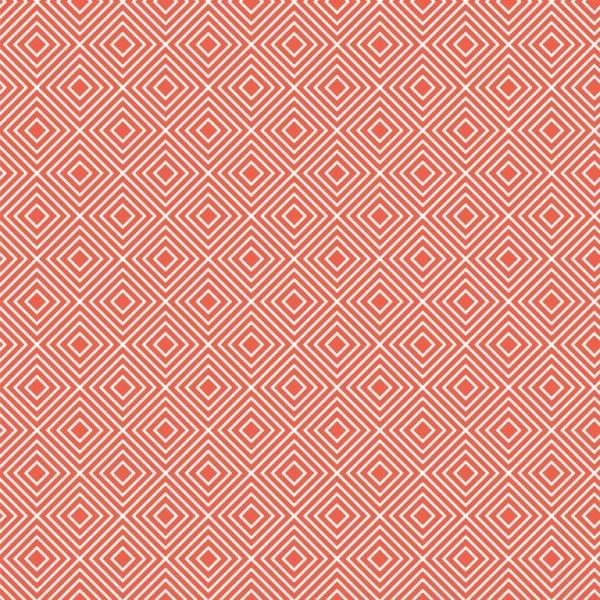 Lili Squares, weiß auf orange, Webstoff, waschbar bei 60°