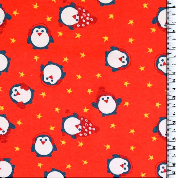 AUSVERKAUFT! Digitaldruck Kleine Pinguine rot, Jersey
