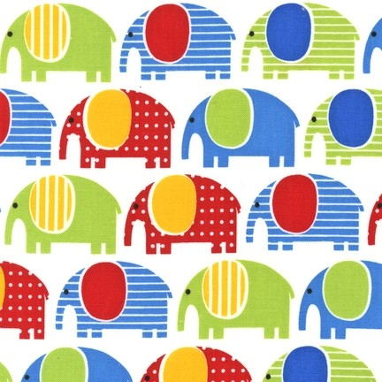 R. Kaufman, Urban Zoologie Elephants bunt