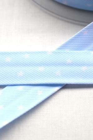 Schrägband, Sterne, babyblau