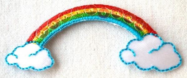 Applikation Regenbogen mit Pailetten