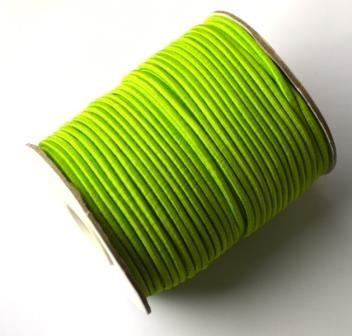 Gummischnur, 2 mm, lime