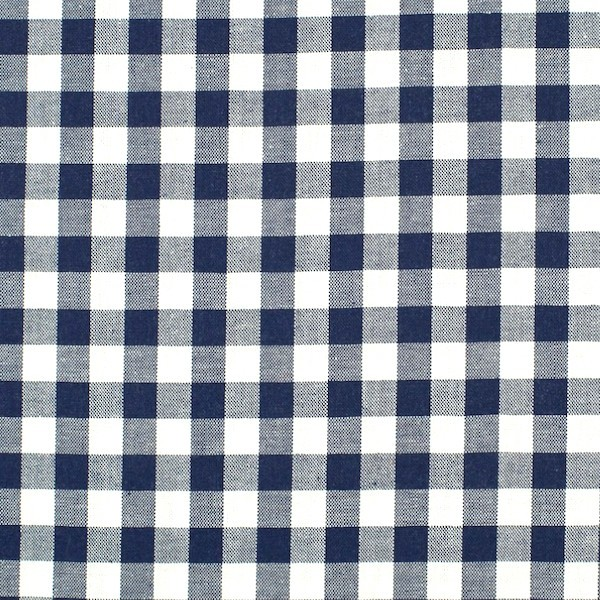 Vichykaro, groß, dunkelblau-weiß kariert