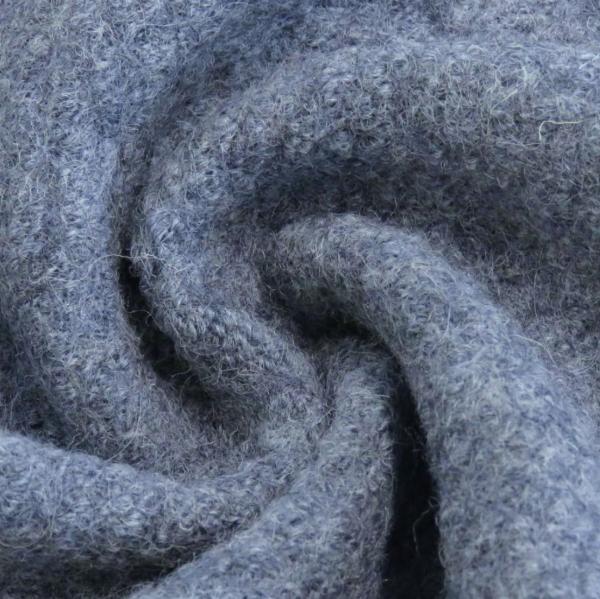 Wollwalk, jeansblau-meliert