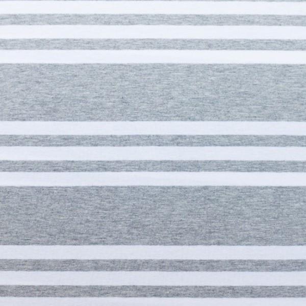 3 Streifen hellgrau-meliert, Jersey
