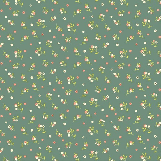 Tencel-Modal-Jersey, Kleine Blümchen auf mint