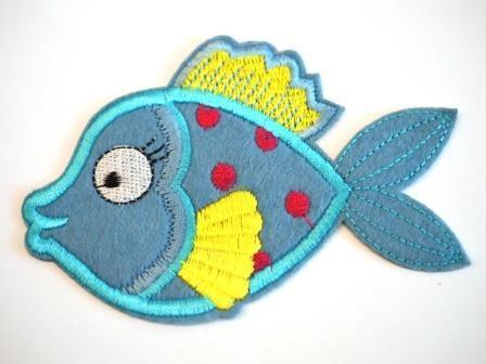 Applikation Bubble Fish, blau