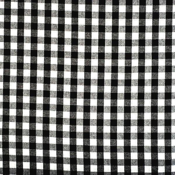 Vichykaro, groß, schwarz-weiß kariert