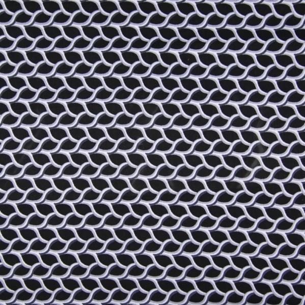 Viskosetwill Rautenmuster, schwarz-weiß