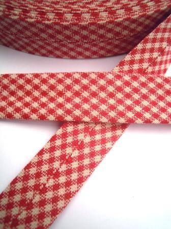 Westfalen Schrägband, karo rot-beige