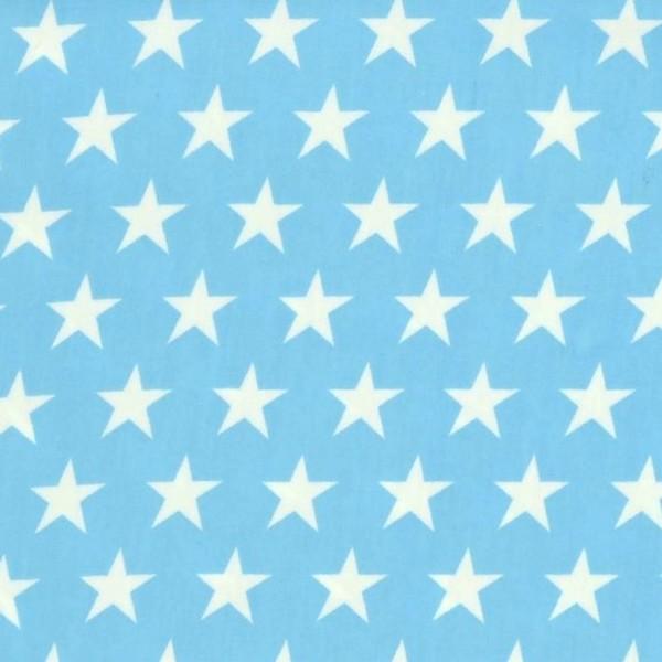 Alex, beschichtete Baumwolle, Sterne weiß auf türkis