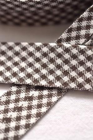 Westfalen Schrägband, karo dunkelbraun-weiß