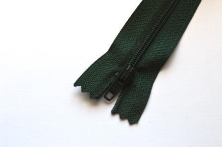 Reißverschluss, dunkelgrün