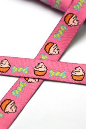 Cupcakes und Zuckerl, pink, Webband