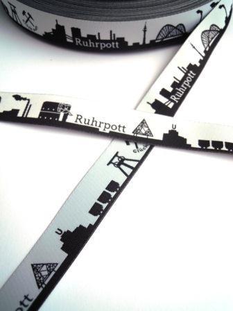 Ruhrpott Skyline, schwarz, Webband *SALE*