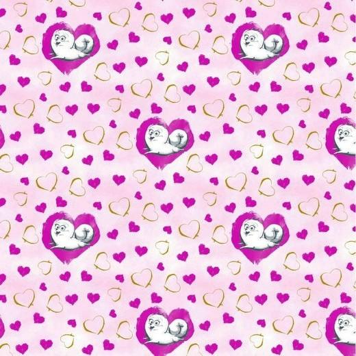 Pets, Herzen rosa, Baumwolllstoff, waschbar bei 60°