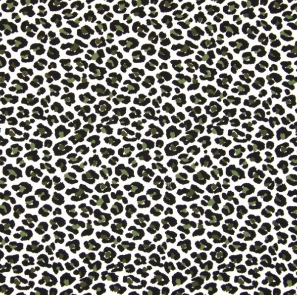 Leopardenmuster mit khaki auf offwhite, Jersey