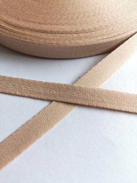Köperband, 10 mm, beige