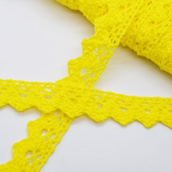 Klöppelspitze mit Zickzack, gelb