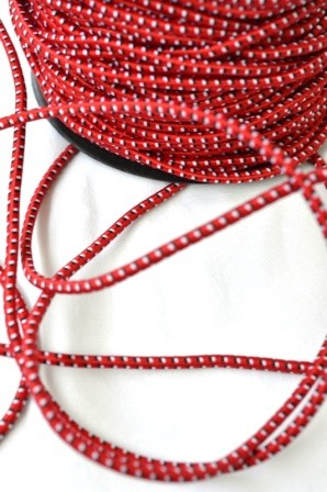 Gummischnur, rot-weiß-schwarz,