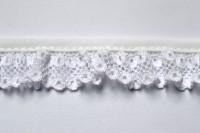 Netzspitze, weiß, 20 mm