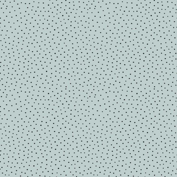 Cotton Slub Washed Punkterl hellblau, Baumwollstoff