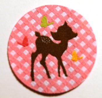 Applikation Bambi, pink