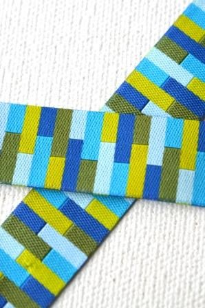Rectangles, blau-grün, Webband