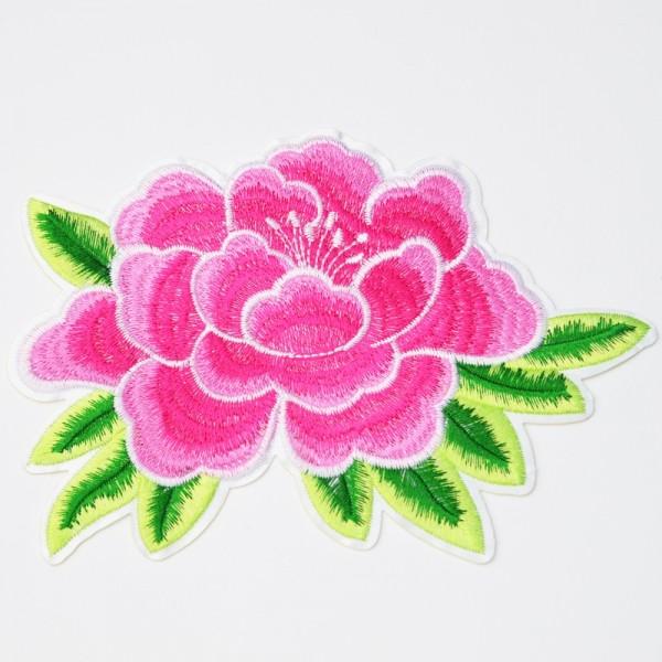Applikation Blume, groß, pink