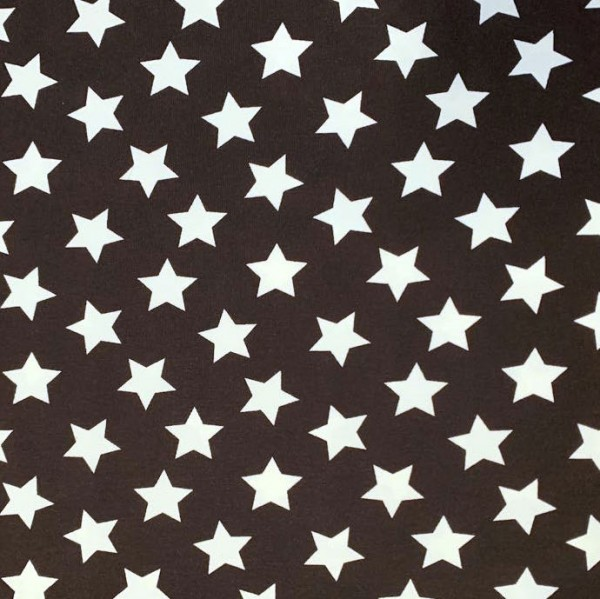 Tom, große Sterne dunkelbraun, Jersey