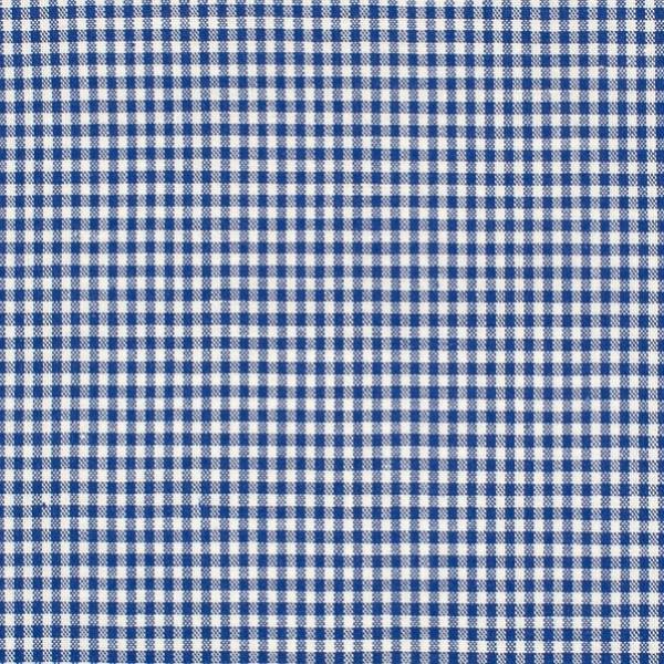 Vichykaro, klein, royalblau-weiß kariert