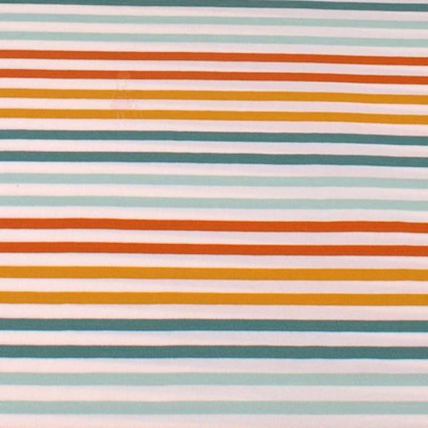 Modal-Jersey, Stripes ocker/petrol/rost