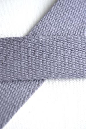Baumwollgurtband, hellgrau, 2,5 cm