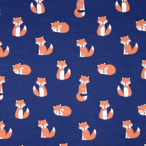 Kleine Füchse, dunkelblau, Jersey
