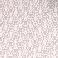 Stenzo Waves rosa auf weiß, Webstoff