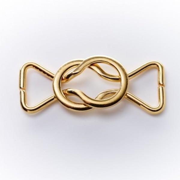 Bikiniverschluss, goldfarben, 15 mm